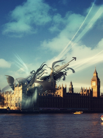 3D Art from Big Ben Wallpaper