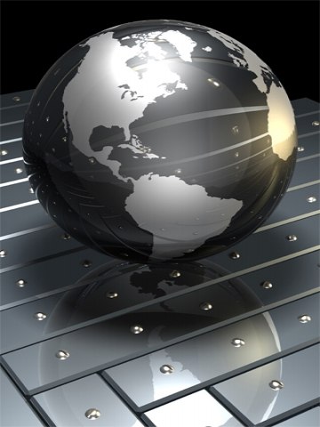 3d silver globe wallpaper iphone blackberry for Black and silver 3d wallpaper