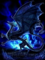 Abstract Blue Dragon