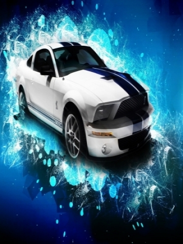 Abstract Ford Shelby Mustang GT500 Wallpaper
