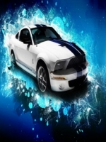 Abstract Ford Shelby Mustang GT500