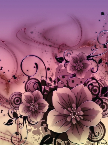Animated Pink Flowers Wallpaper