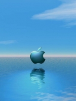 Apple Logo Over Water