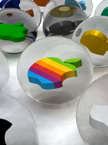 Apple Logos in Balls Wallpaper
