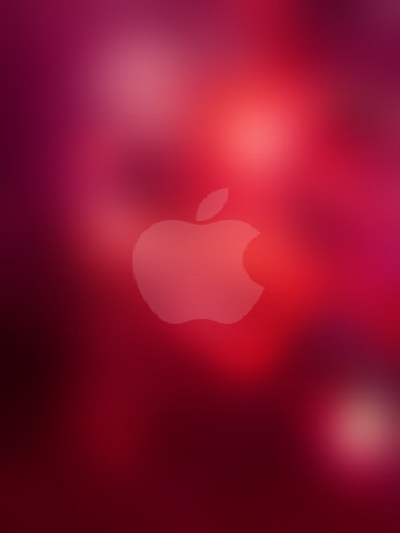 Apple Pink Lights Wallpaper