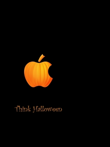 Apple Think Halloween Wallpaper
