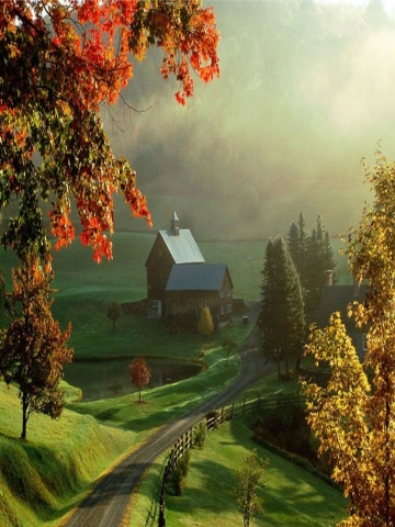 Autumn Farm Wallpaper