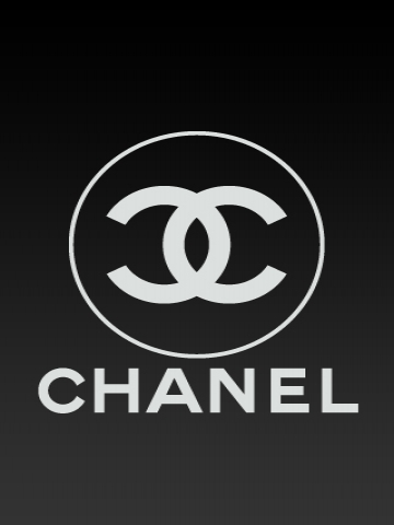 Black Chanel Logo iPhone Wallpaper
