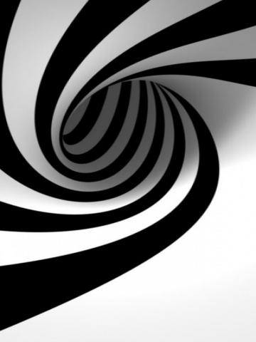 Black and White Spiral Wallpaper