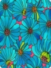 Blue Cartoon Flowers