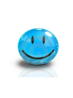 Blue Smiley Face