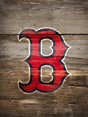Boston Red Sox Logo on Wood Wallpaper