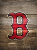 Boston Red Sox Logo on Wood