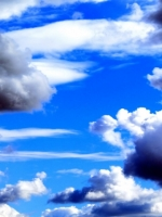 Bright Blue Cloud Sky