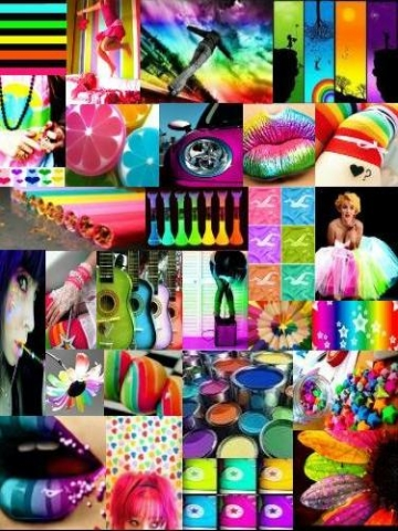 Bright Color Collage Wallpaper