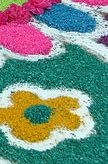 Bright Flower Chalk Wallpaper