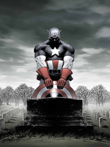 Captain America in Cemetary Wallpaper