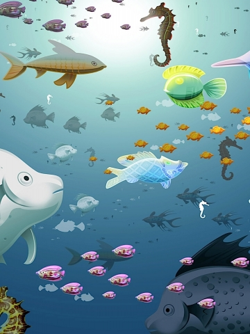 Cartoon Fish Wallpaper