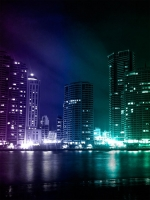 Colorful City Lights