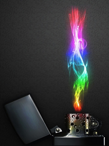 Colorful Flame Wallpaper