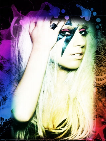Colorful Lady Gaga Wallpaper