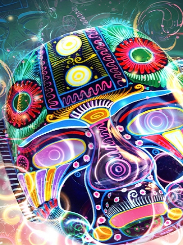 Colorful Mask Wallpaper