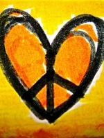 Crayon Peace Heart