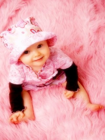 cute baby girl in pink wallpaper iphone blackberry