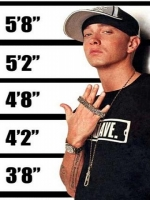 Eminem 5ft 8in
