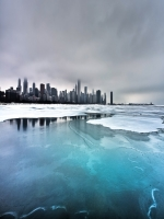 Frozen Lake Skyline