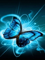 Glowing Blue Butterfly
