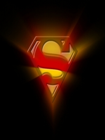 Glowing Superman Symbol Wallpaper