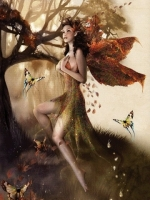 Golden Fairy and Butterflies
