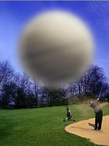Golf Ball Screen Shot Wallpaper