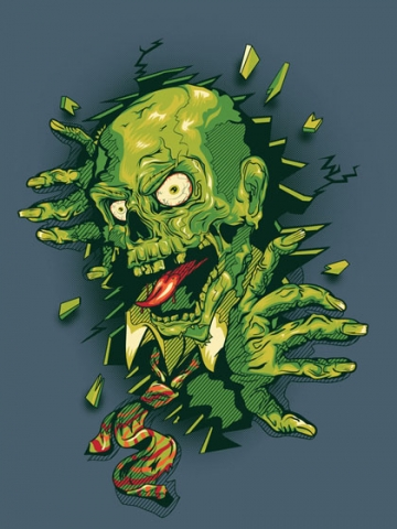 Green Zombie Wallpaper