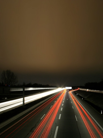 Highway Lights Wallpaper