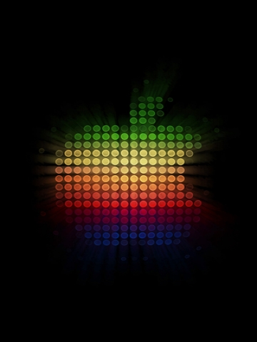 LED Apple Wallpaper
