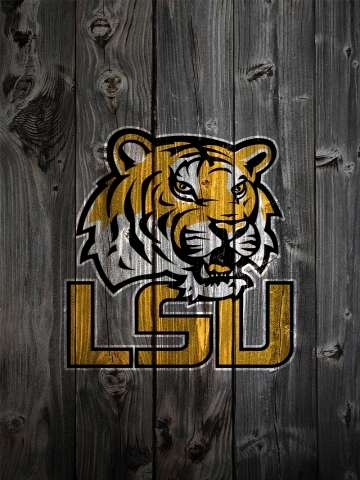LSU Tigers Wood Wallpaper