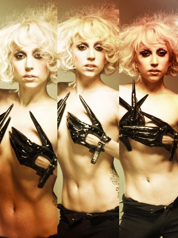 Lady Gaga Topless Wallpaper