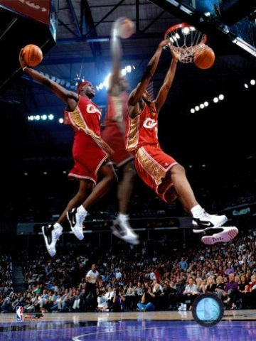 Lebron Slow Motion Dunk Wallpaper Iphone Blackberry