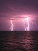 Lightning Striking Water
