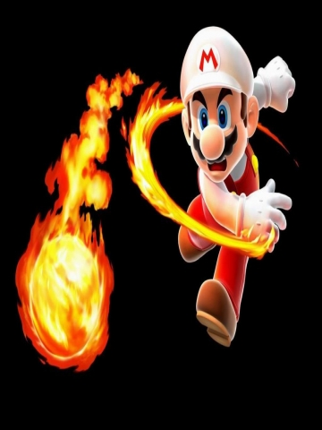 Mario Fireball Wallpaper