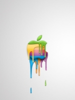 Melting Apple logo