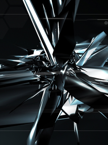 3d Metal Shards Wallpaper