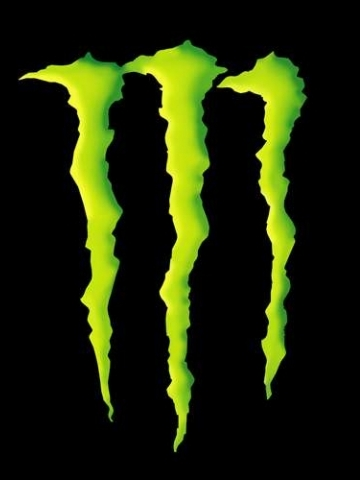 Monster Energy Logo Black Wallpaper