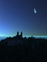 Moon over Castle