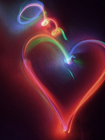 Neon Heart Wallpaper