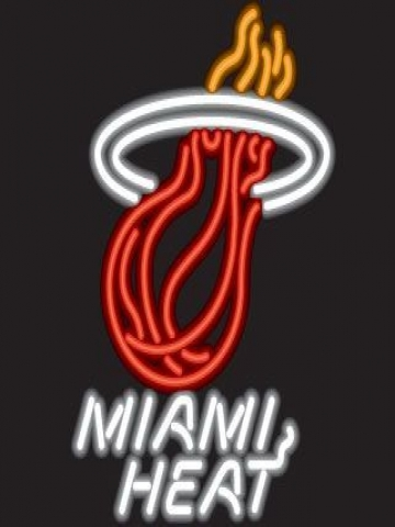 Neon Miami Heat Wallpaper