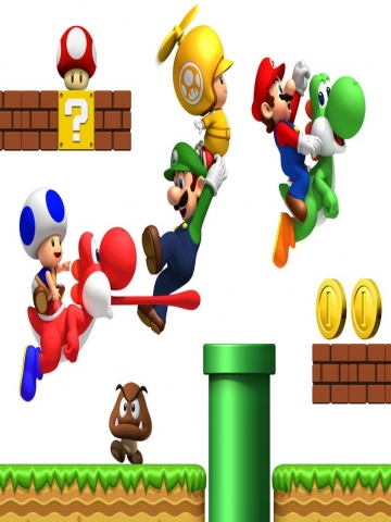 New Super Mario Brothers Wallpaper