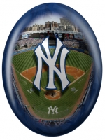 New York Yankees Stadium blue